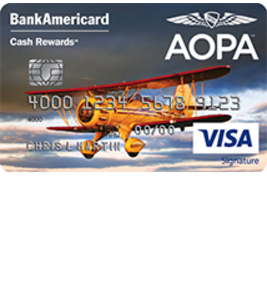 AOPA BankAmericard Cash Rewards Visa Signature Credit Card