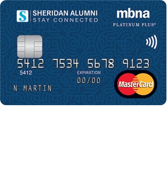 Sheridan College MBNA Rewards MasterCard
