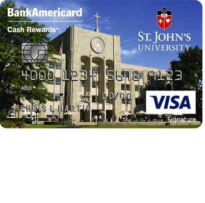 St. John's University BankAmericard Cash Rewards Visa Signature Credit Card