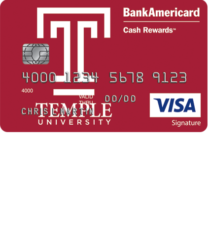 Temple University Visa Credit Card