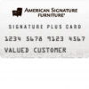American Signature Furniture Credit Card
