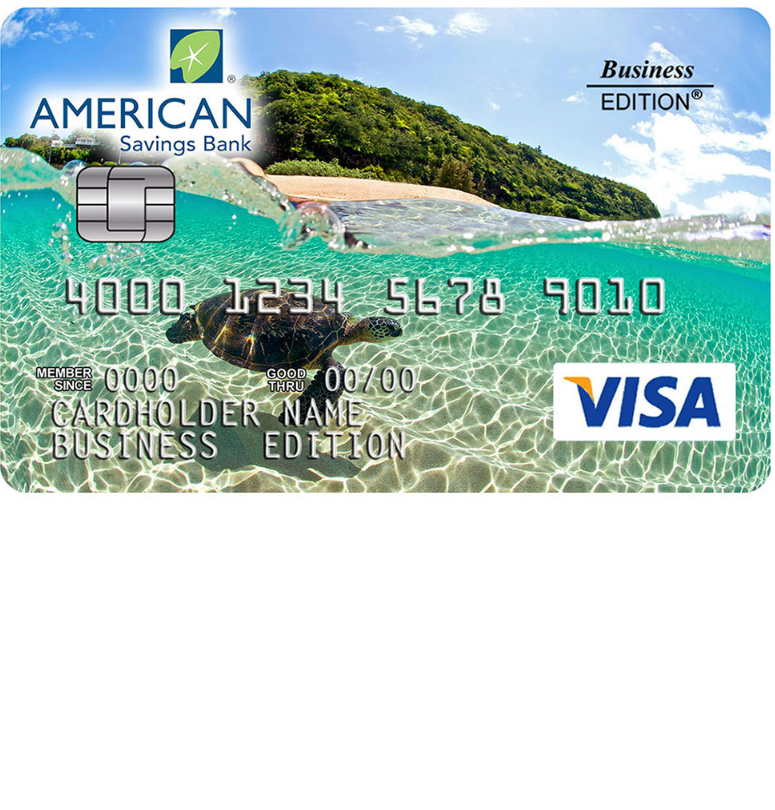 American Savings Bank Business Edition Visa Card