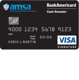 AMSA BankAmericard Cash Rewards Visa Signature Credit Card