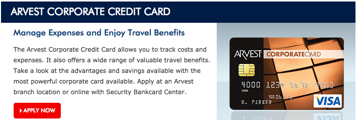 How to Apply for the Arvest Corporate Visa Credit Card
