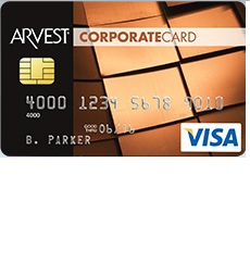 Arvest Corporate Visa Credit Card