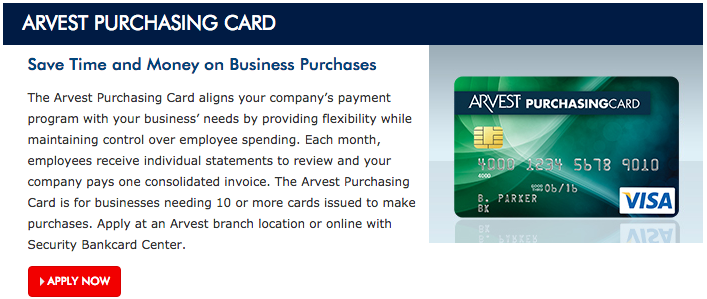 How to Apply for the Arvest Purchasing Visa Credit Card