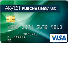 Arvest Purchasing Visa Credit Card