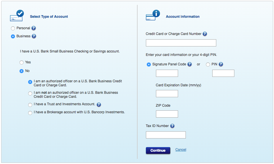Us bank small business credit card login choice image for Us bank business credit card login