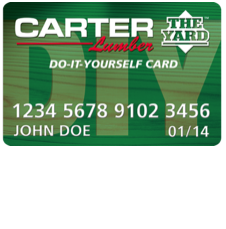 Carter Lumber DIY Credit Card