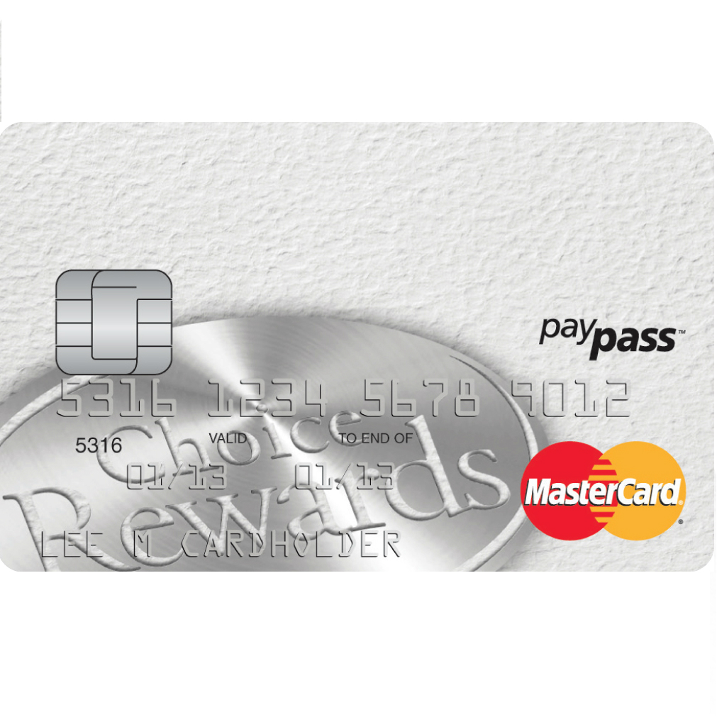 Affinity Credit Union Low Fee Choice Rewards MasterCard