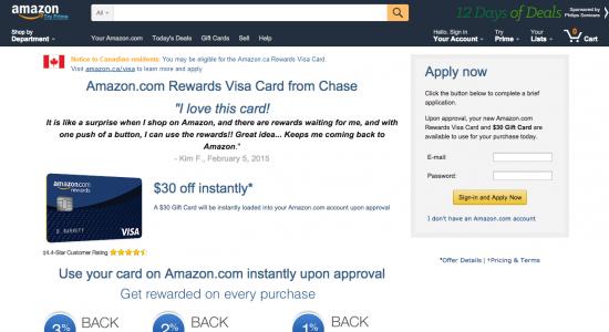 Amazon Credit Card - Apply 1