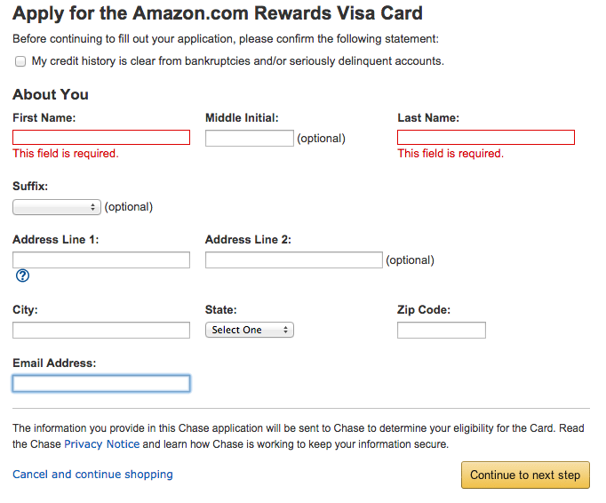 apply online for amazon credit card