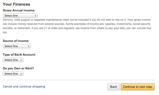 Amazon Credit Card - Apply 5