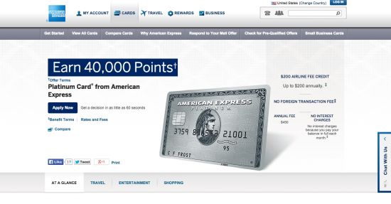 American Express Platinum Credit Card (Apply Now)