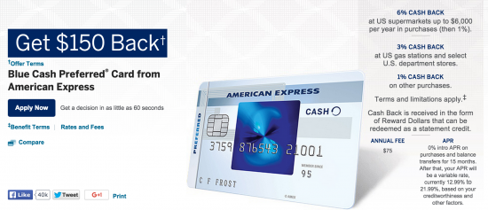 credit cards personal card application terms blue