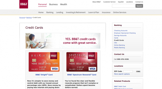 BB&T Credit Card - Apply 1