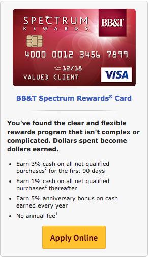 BB&T Spectrum Rewards Card - Apply 2
