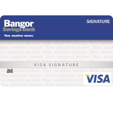 Bangor Savings Bank Visa Signature Bonus Rewards Credit Card