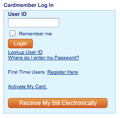 credit card log