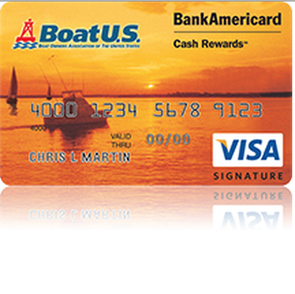 BoatUS BankAmericard Cash Rewards Visa Credit Card