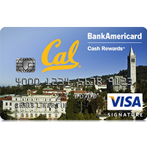 Cal Alumni BankAmericard Cash Rewards Visa Credit Card