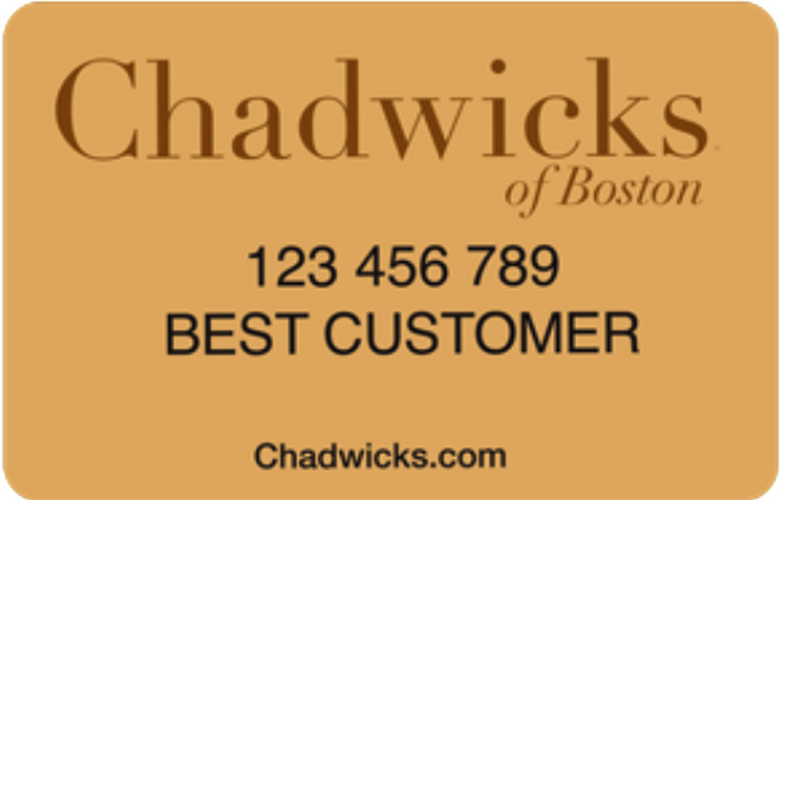 Chadwicks Credit Card
