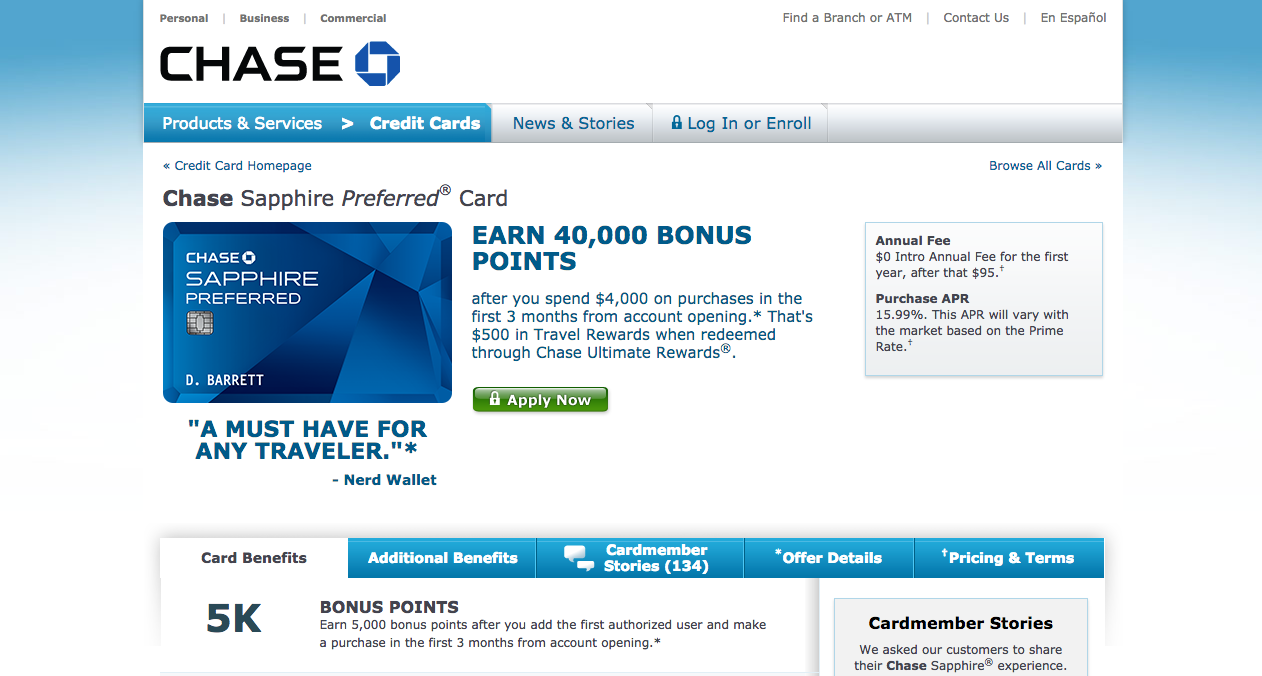 How to Apply for a Chase Sapphire Preferred Credit Card
