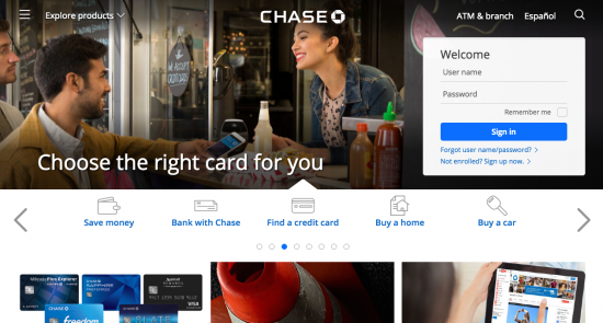 Chase Sapphire Preferred Credit Card - Login 1