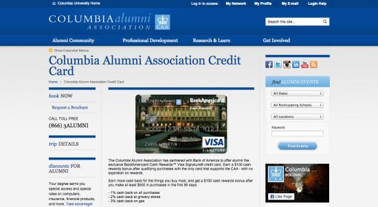 Columbia University Alumni Association Credit Card - Apply 1