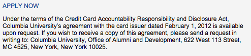 Columbia University Alumni Association Credit Card - Apply 2