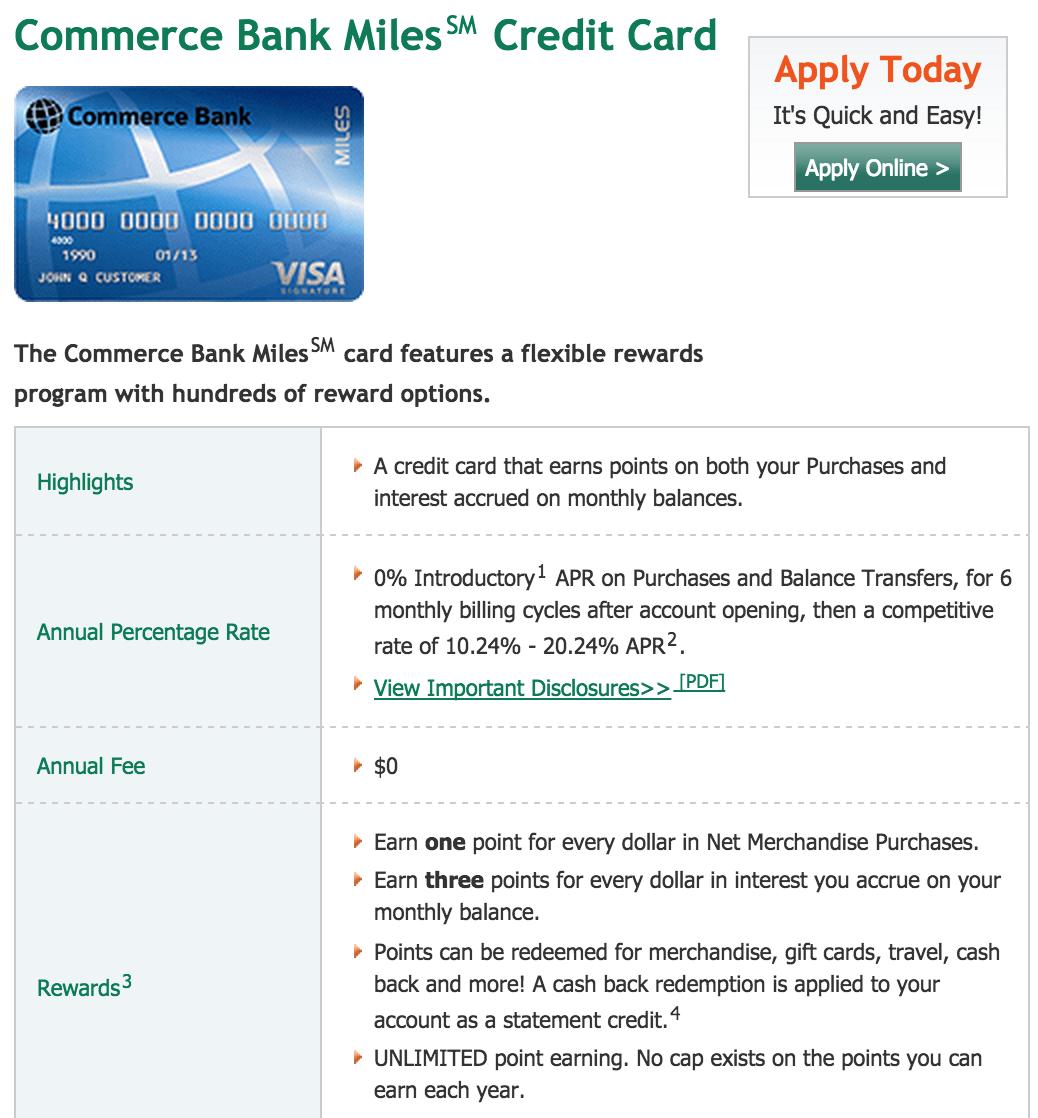 commerce bank credit card online login