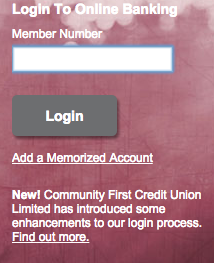 Community First Credit Union World Elite Mastercard Credit Card - Login 2