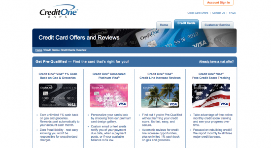 Credit One Credit Cards - Apply 1