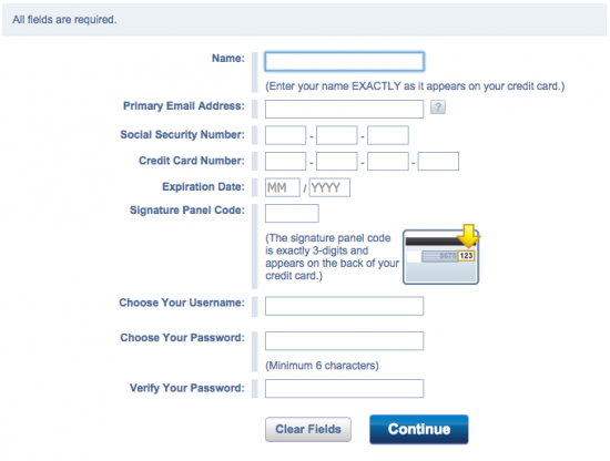 Credit One Unsecured Platinum Visa Credit Card - Login 5