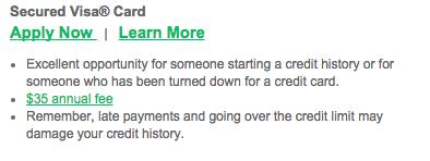 Dairy State Bank Secured Visa Credit Card - Apply