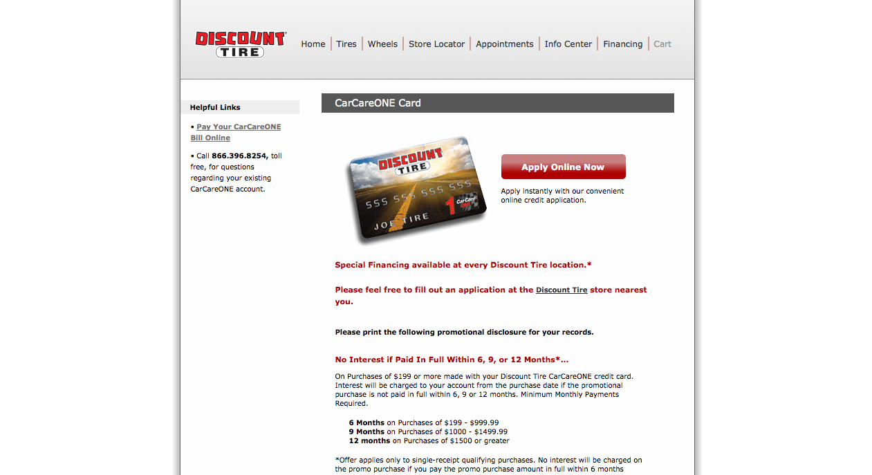 How To Apply For A Discount Tire Credit Card