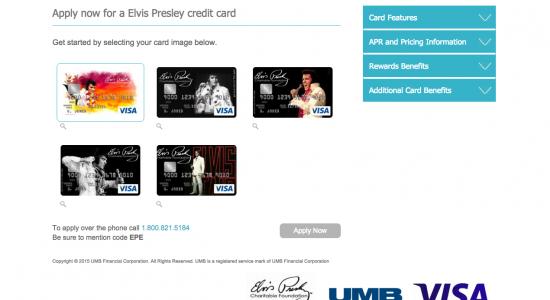 Elvis Presley Credit Card - Apply 1