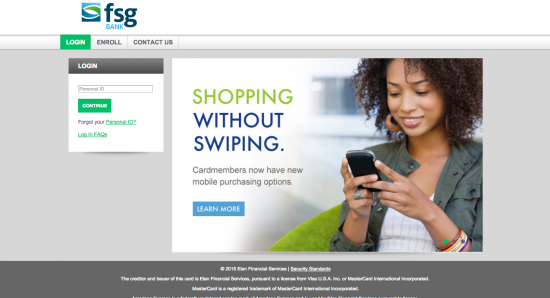 FSG Bank Credit Card - Login 1