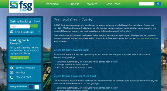 FSG Bank Credit Cards - Apply 1