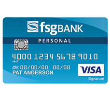 FSG Bank Visa Signature Bonus Rewards Credit Card