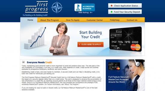 First Progress Platinum Select Mastercard Secured Credit Card - Login 1