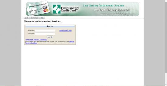 First Savings Login Page