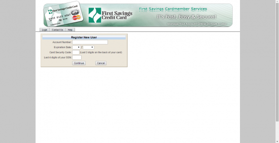 First Savings Registration