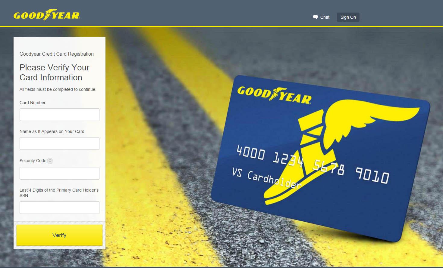 Goodyear Credit Card Login Make A Payment