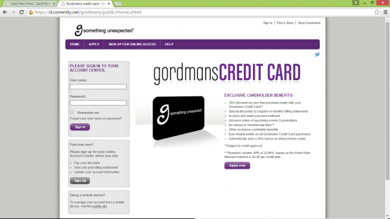 Gordmans Homepage