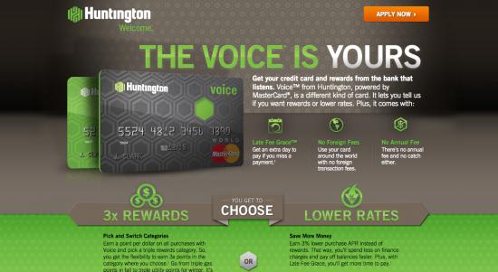 Huntington Credit Card - Apply 1