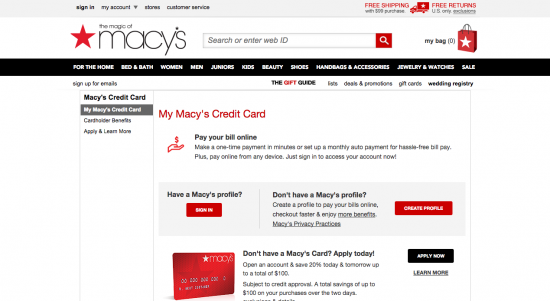 Macy's Credit Card - Apply 1