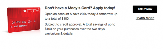 Macy's Credit Card - Apply 2