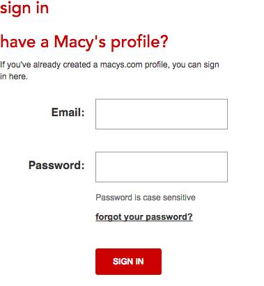 Macy's Credit Card - Login 2
