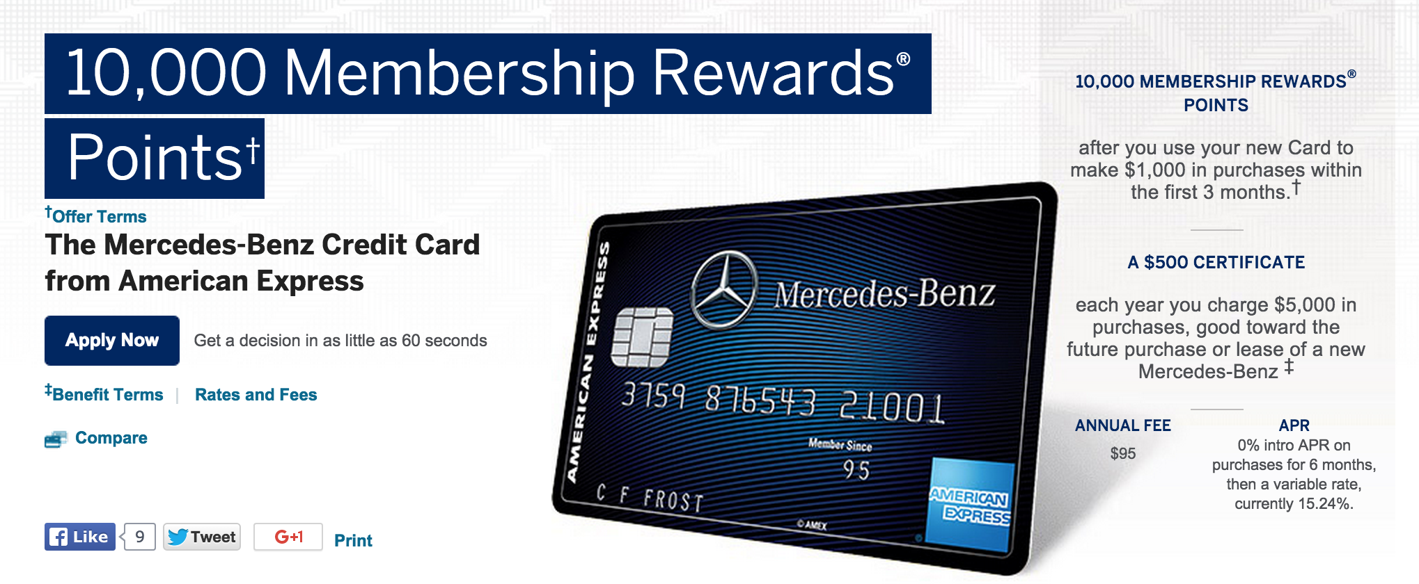 how to apply for the mercedes benz amex credit card